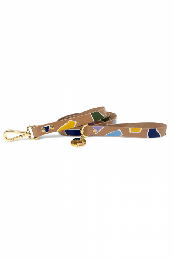 NICE DIGS ROCK CANDY LEATHER LEASH