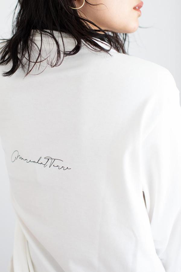 marechal バックロゴ長袖Tシャツ