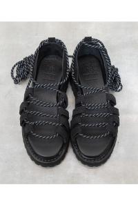 Leather sandal<br>SE-19SU00100BK