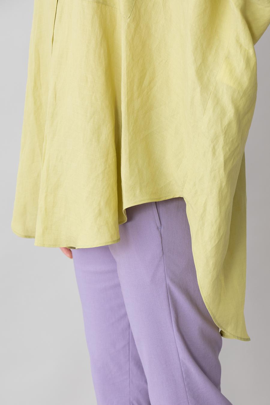 リヨセルラミーローン ワイドシャツブラウス<br> MN211T43