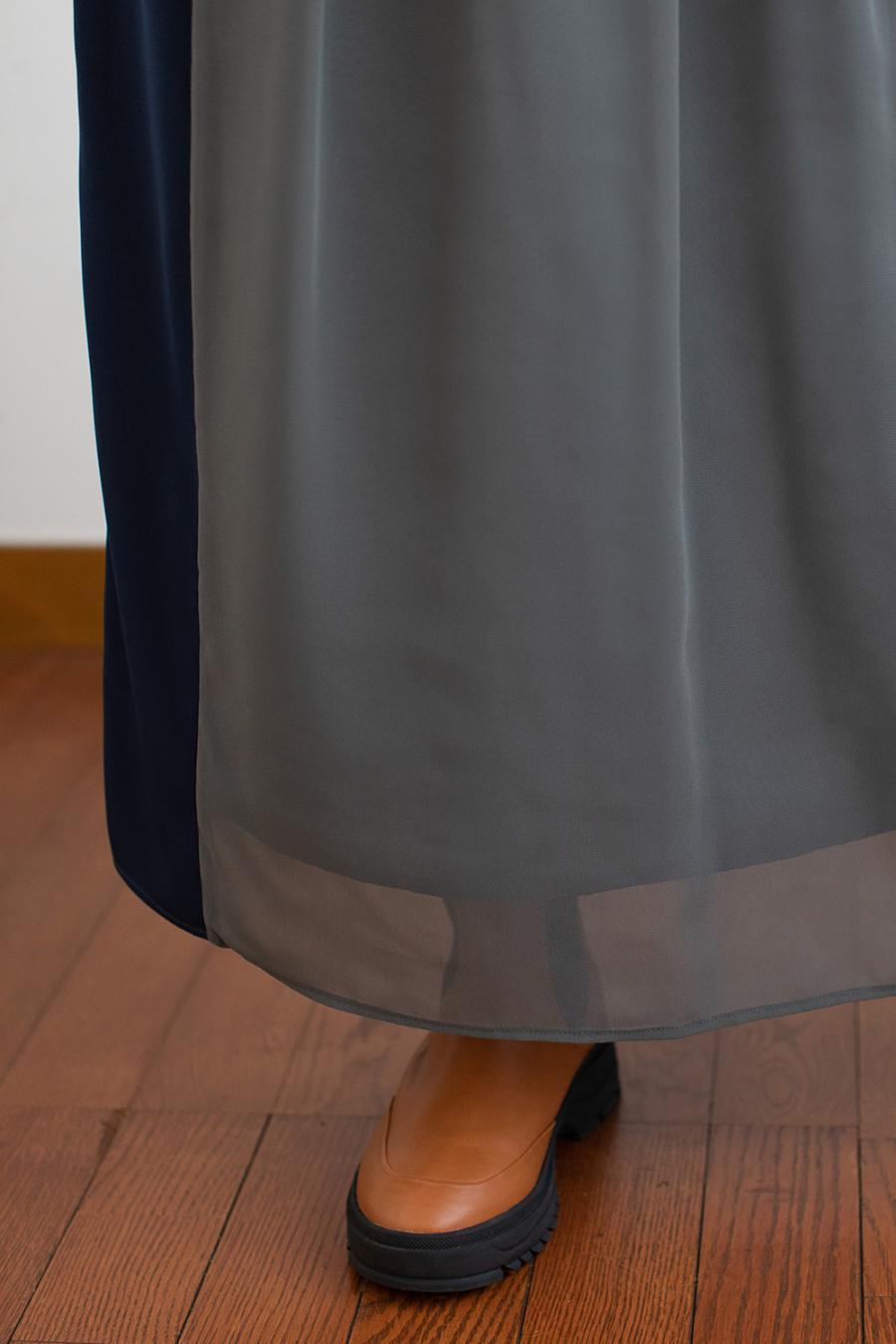 配色パイピングスカート<br>ZMT214SK305