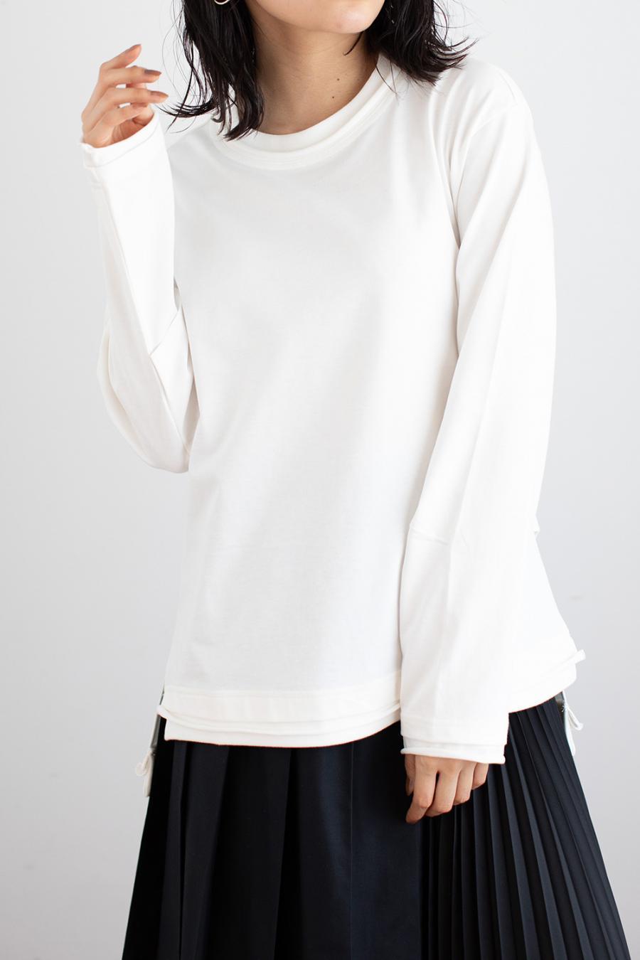 バックロゴ長袖Tシャツ<br>ZMT214CT313