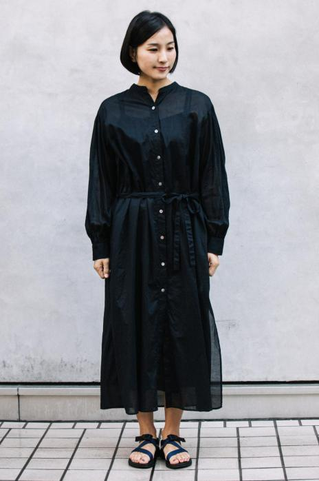 コットンローンシャツドレス