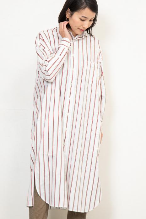 スクエアビックロングシャツ<br>TBKS-021