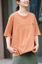 バイオウォッシュコットンジャージー プリントTシャツ<br> MN211U44