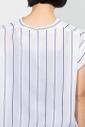 ストライプスタンドカラーシャツ