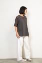 トリコットシフォン ラウンドヘムTシャツ<br> MN201U22