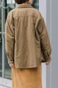 コットンフランネル中綿入りシャツアウター<br>MN202T46