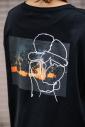 big silhouette TEE -hug sunrise-<br>MCT200801BLK